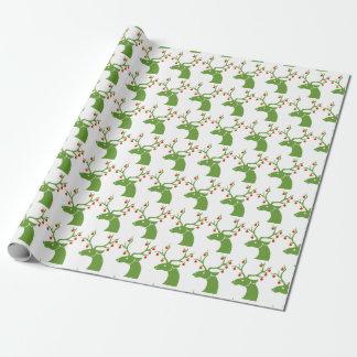 Papier Cadeau Mâle vert avec l'enveloppe de cadeau d'ornement