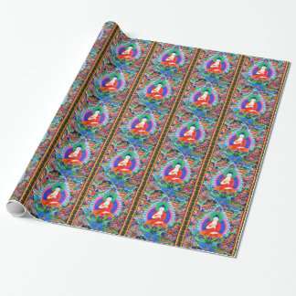 Papier Cadeau Mandala tibétain oriental frais de tatouage d'un