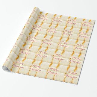 Papier Cadeau Manuscrit de JOYEUX anniversaire : Cristal pur de
