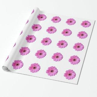 Papier Cadeau Marguerite élégante rose de Gerbera