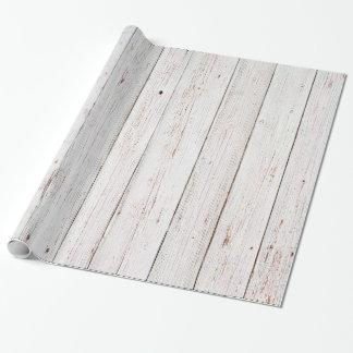 Papier Cadeau Mariage en bois blanc chic minable