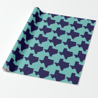 Papier Cadeau Marine du Texas et papier d'emballage de turquoise