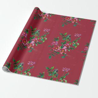 Papier Cadeau Marsala rose de cru