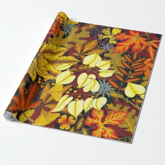 Papier Cadeau Mélange de feuille de chute/automne