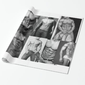 Papier Cadeau Modèle masculin de forme physique et papier