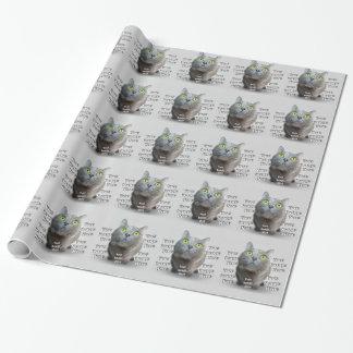 Papier Cadeau Modèle photo d'animal familier
