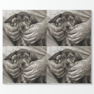 Papier Cadeau Mon art photographique de chiot de beagle d'ami