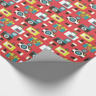 Papier Cadeau Motif coloré d'appareils-photo de Lomo d'amusement