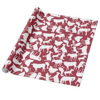 Papier Cadeau Motif d'animaux de ferme