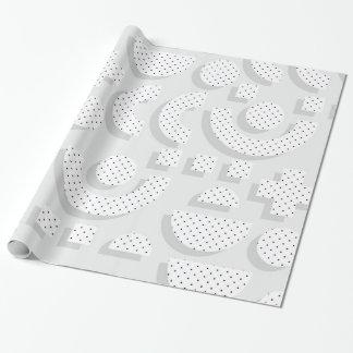Papier Cadeau Motif de l'art de bruit de motif de Memphis 80s 3D