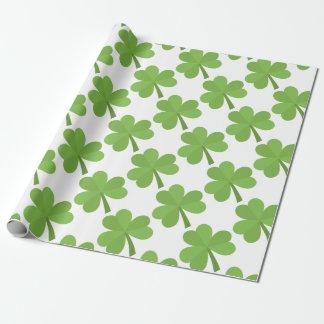 Papier Cadeau Motif de trèfle de l'Irlande d'Irlandais de