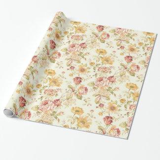 Papier Cadeau Motif floral élégant