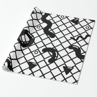 Papier Cadeau Motif géométrique de l'art de bruit de motif de