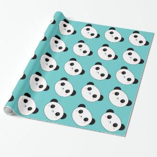 Papier Cadeau Motif heureux de visage de panda