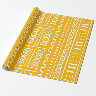Papier Cadeau Motif jaune de tissu de boue