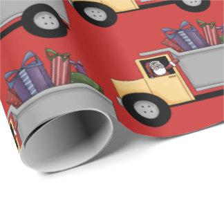 Papier Cadeau Motif mignon de camion à benne basculante
