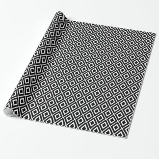 Papier Cadeau Motif noir et blanc moderne d'Ikat