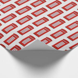 Papier Cadeau Motif rouge britannique de cabine téléphonique