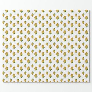 Papier Cadeau Motif sans couture de citrons d'aquarelle