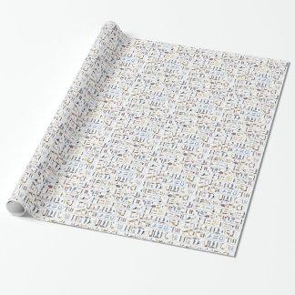 Papier Cadeau Motif sans couture d'hiéroglyphes