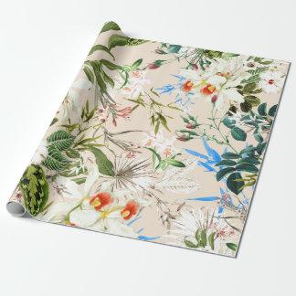 Papier Cadeau Motif vintage de fleurs sauvages