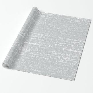 Papier Cadeau Mots inspirés