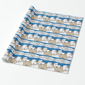 Papier Cadeau Moutons de nativité
