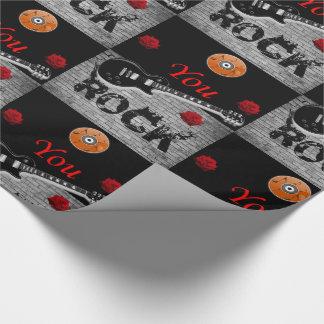 Papier Cadeau Musique rock de papier d'emballage