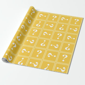 Papier Cadeau Mystère jaune