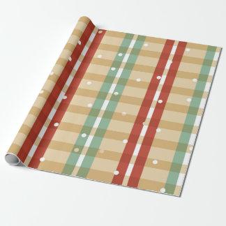 Papier Cadeau Neige de plaid papier d'emballage de beaucoup de