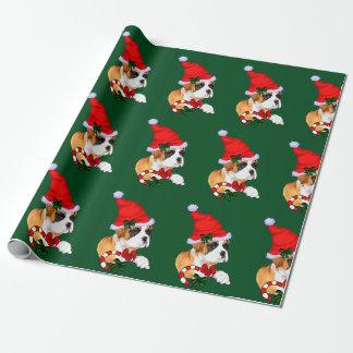 Papier Cadeau Noël de chien de boxeur