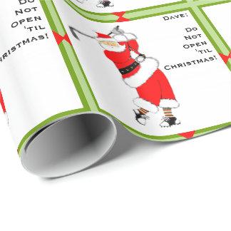 Papier Cadeau Noël de golf