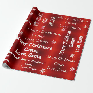 Papier Cadeau Noël personnalisé de Père Noël