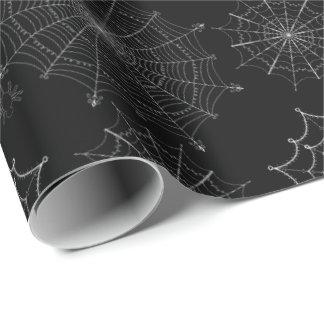 Papier Cadeau Noir éffrayant Samhain d'insecte de Halloween de
