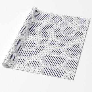 Papier Cadeau Noir et blanc sauvage de l'art de bruit de motif