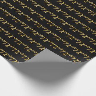Papier Cadeau Noir, événement d'or soixante-douzième de Faux