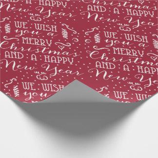 Papier Cadeau Nous vous souhaitons un Joyeux Noël et une bonne