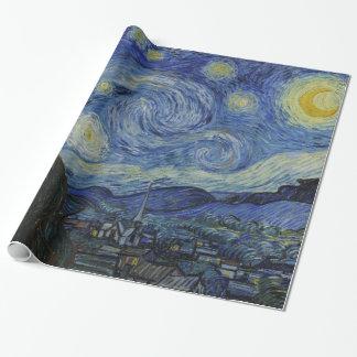 Papier Cadeau Nuit étoilée Vincent van Gogh