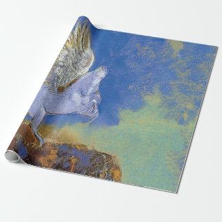 Papier Cadeau Odilon Redon Pegasus - symbolisme de mythologie