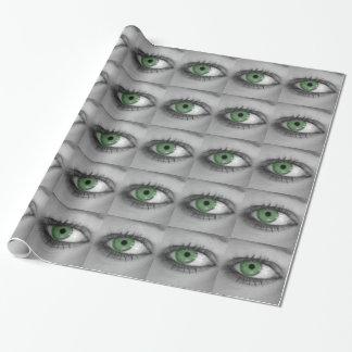Papier Cadeau Oeil vert