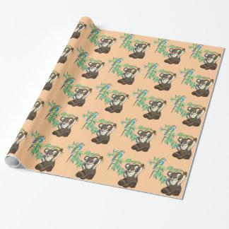 Papier Cadeau ours de perruche et de koala