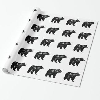 Papier Cadeau Ours noir