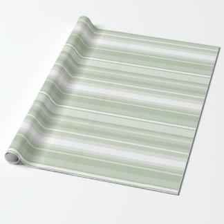 Papier Cadeau Pâlissez - les rayures vertes