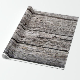 Papier Cadeau Panneaux en bois patinés rustiques de plage