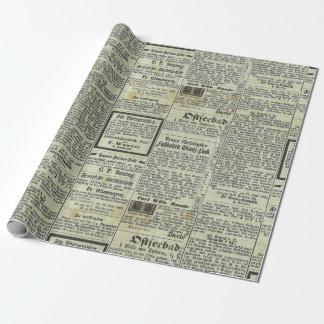 Papier Cadeau Papier allemand vintage de cadeau de journal