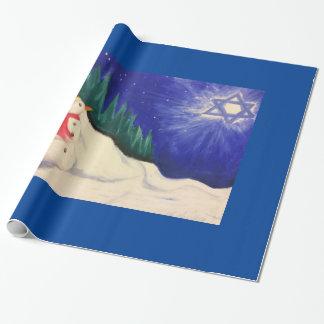 Papier Cadeau Papier de bonhomme de neige