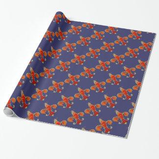 Papier Cadeau Papier de cadeau de Crawfish Fleur De Lis Vintage