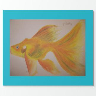 Papier Cadeau Papier de poisson rouge