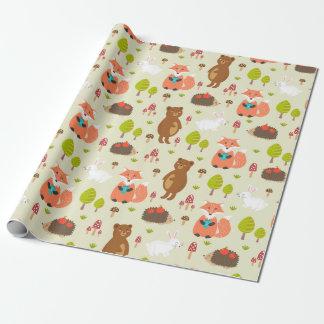 Papier Cadeau Papier d'emballage - amis de forêt
