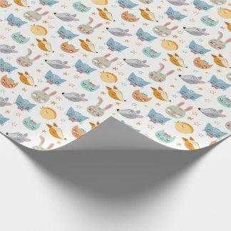 Papier Cadeau Papier d'emballage animal de bébé